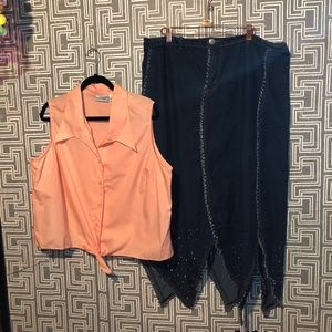 Plus Size two outfit